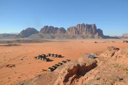 View of bedouin tents